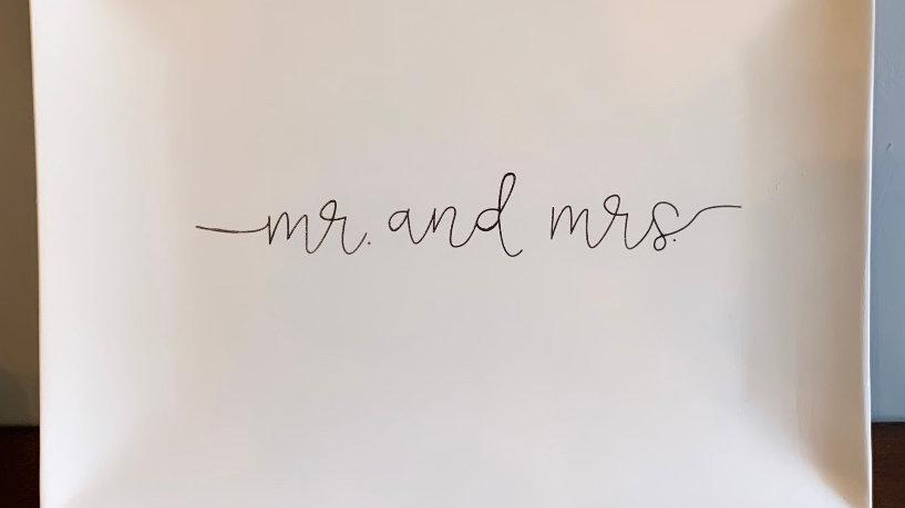 """Mr. and Mrs."" Platter"