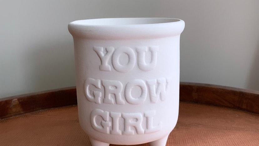 """Small """"You Grow, Girl"""" Planter"""