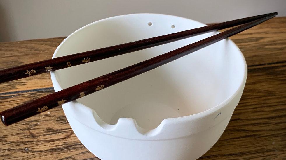 Chopstick Bowl, with Chopsticks