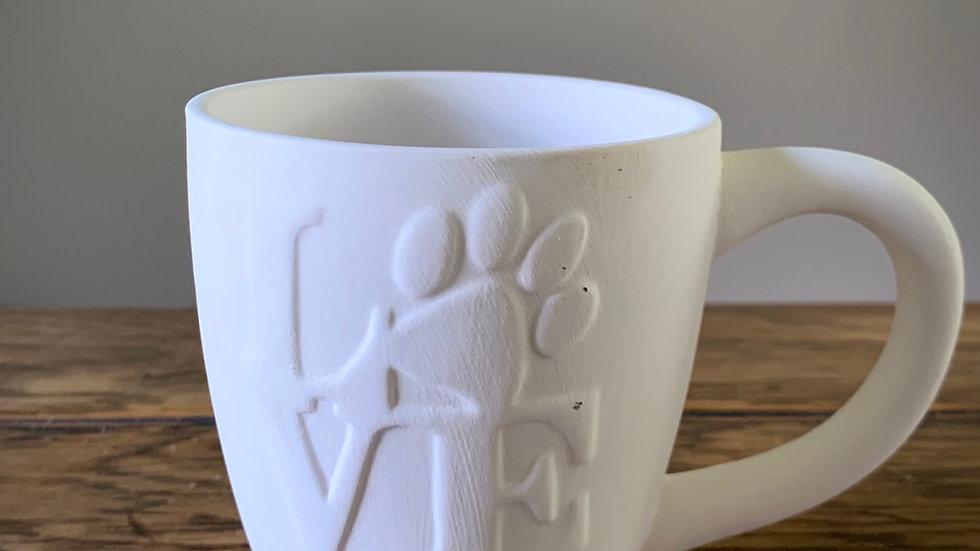 """""""Love"""" Paw Mug"""