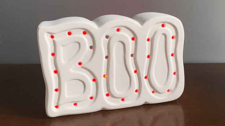 "Light Up ""BOO"" (w/ color-changing LED tealight candle)"