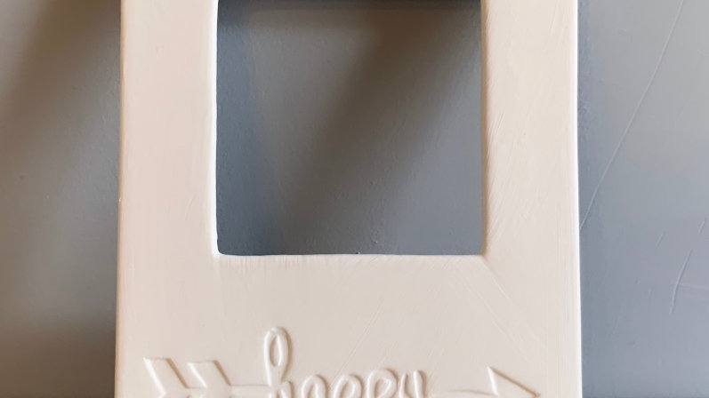 """Happy"" Picture Frame"