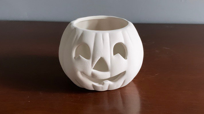 Small Pumpkin Candle Holder