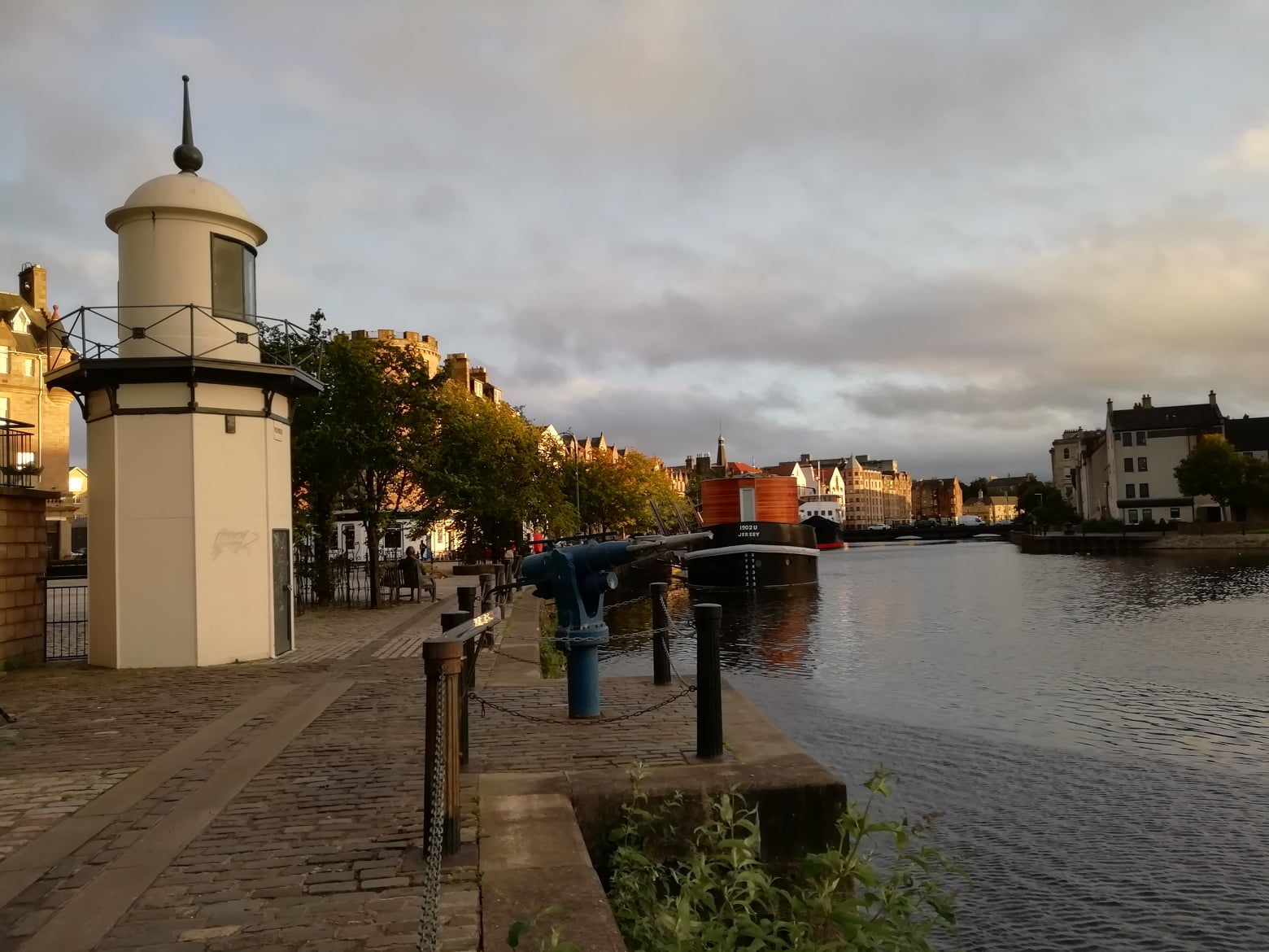 The Old Lighthouse and Whale Harpoon on Shore, Leith