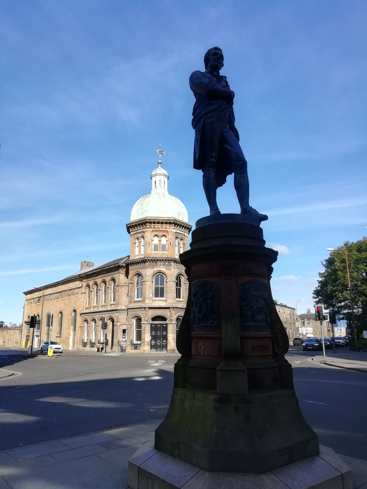 Burns Statue, Constitution Street, Leith