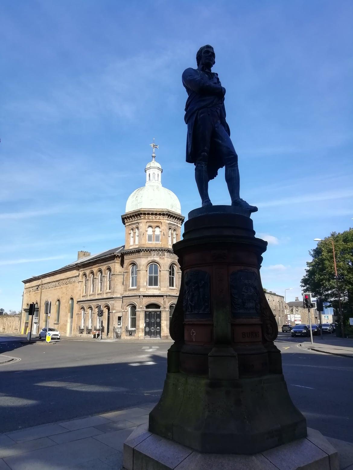 Burns Statue, Constitution Street, Leith