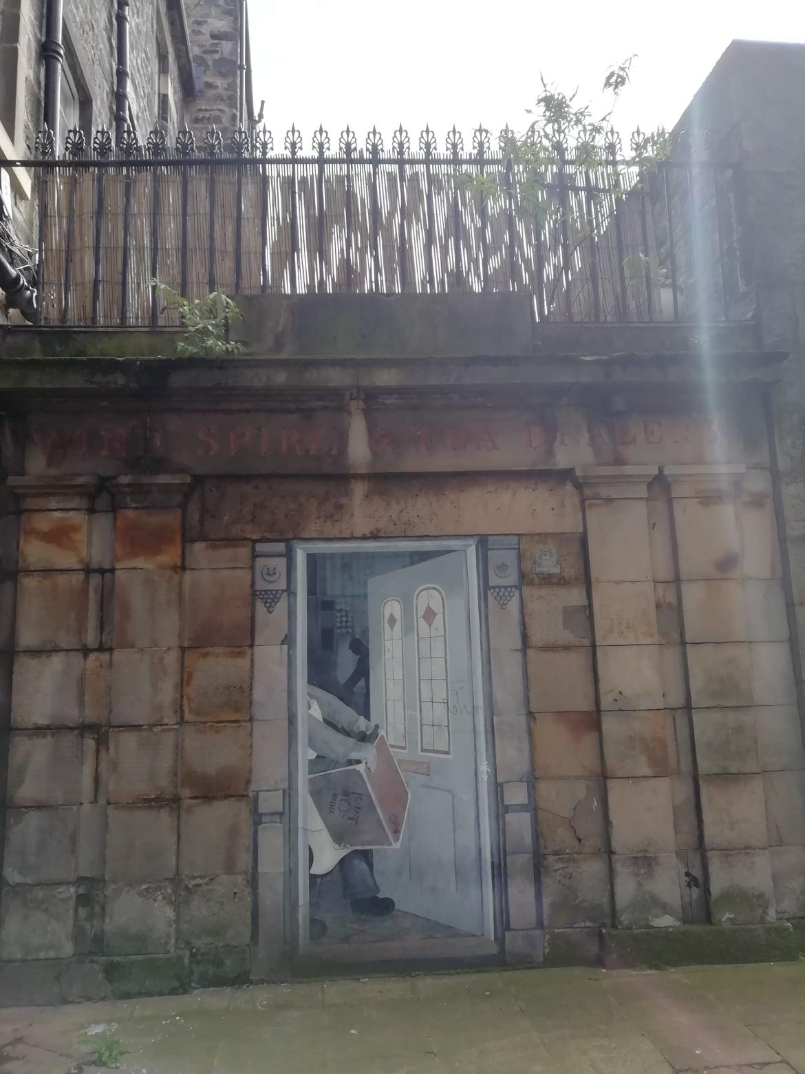 Mural off Bernard Street, Leith