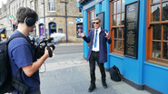 """filming """"Funshine on Leith"""""""