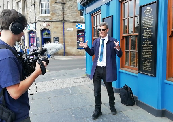 """Filming """"Funshine on Leith"""" tour. Available on YouTube until 17th September 2020"""