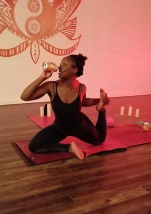Beer Yoga with Nancy Ogunro at Projekt 42