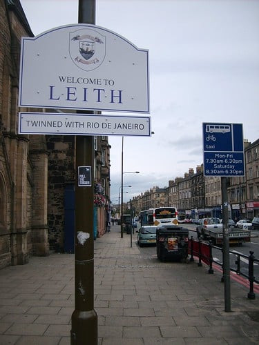 Welcome to Leith, twinned with Rio de Janeiro