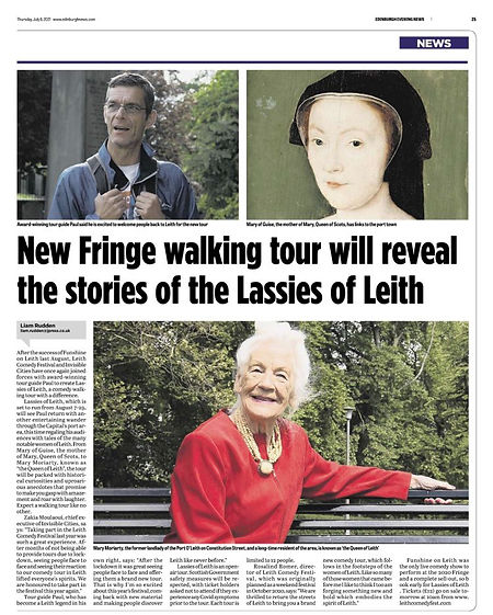 Evening News Lassies of Leith Article