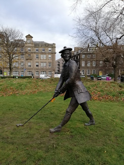Statue of Dr John Rattray Statue at Leith Links, by David Annand