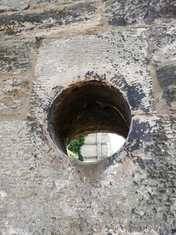 Holes in wall Consitution Street Leith
