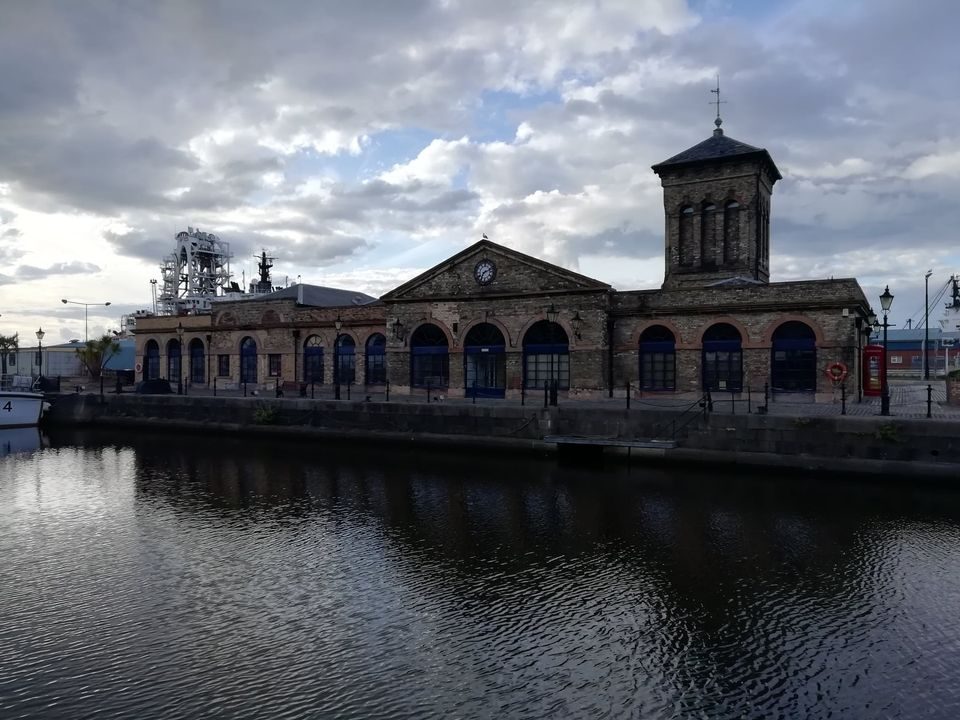 The Old Pump House at Leith Docks
