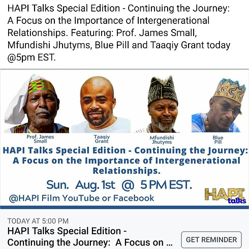 HAPI Talks Special Edition Focus on the Importance of Intergenerational Relationships