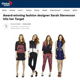 Award-winning fashion designer Sarah Stevenson hits her target