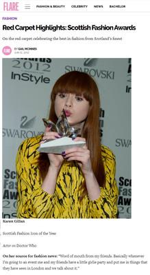 Red Carpet Highlights Scottish Fashion Awards
