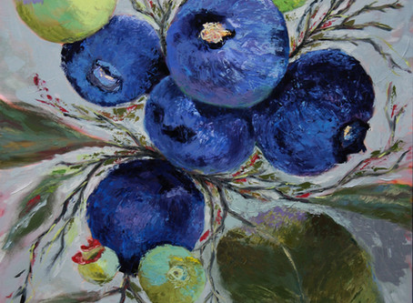 Finished Blueberry painting