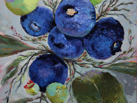 Finished Blueberry painting