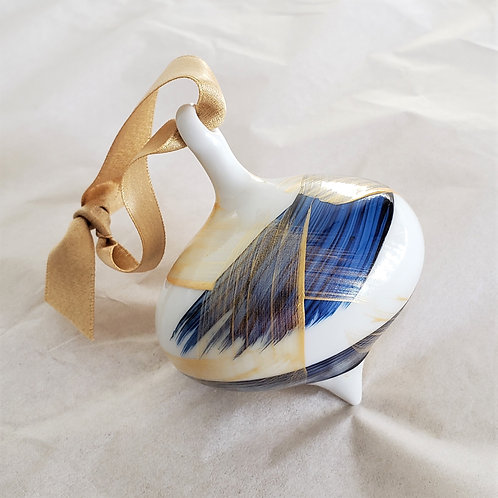 Blue/Gold Ornament