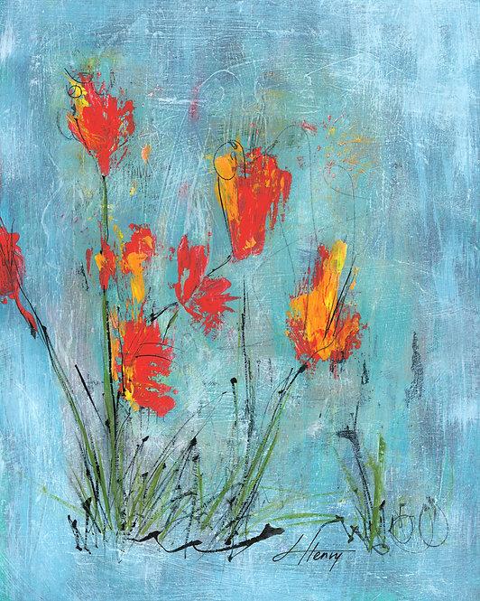 """Spring Arises 9"" vertical print"