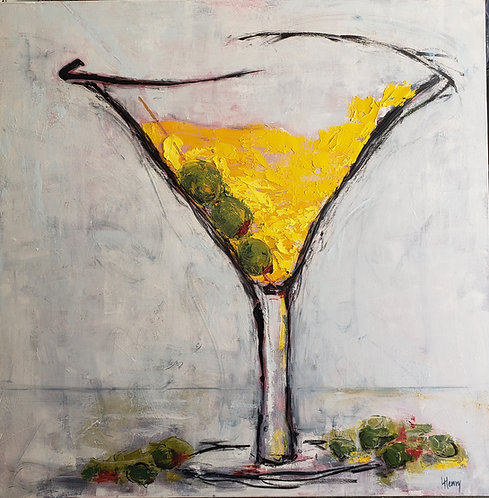 Big Ass Martini  (36 x 36 in)