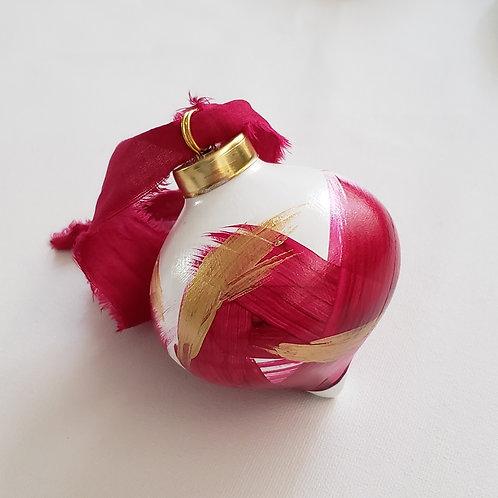Fuchsia/Gold Ornament