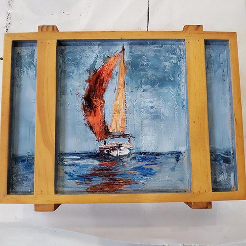 Sailboat Cigar Box