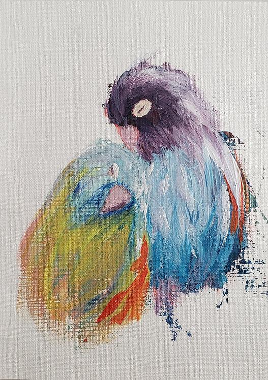 Lovebirds 14 - original on paper