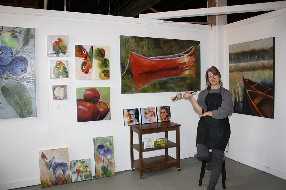 Laurie in her gallery