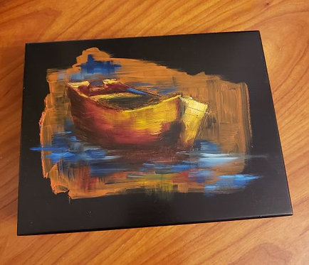 Rowboat Cigar Box Painting