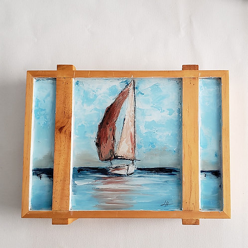 Sailboat Cigar Box Painting 2
