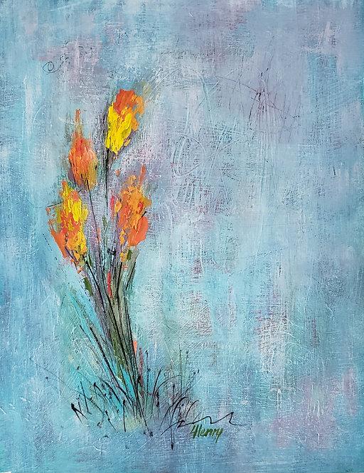 """""""Spring Arises 7""""  original ~  11x14 in."""