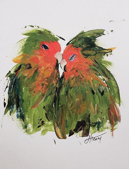 Lovebirds 13 - original on paper