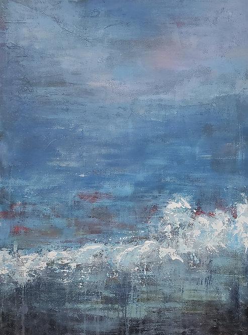 """""""Ocean Break""""  ~  40 x 30 x 1.5 in."""