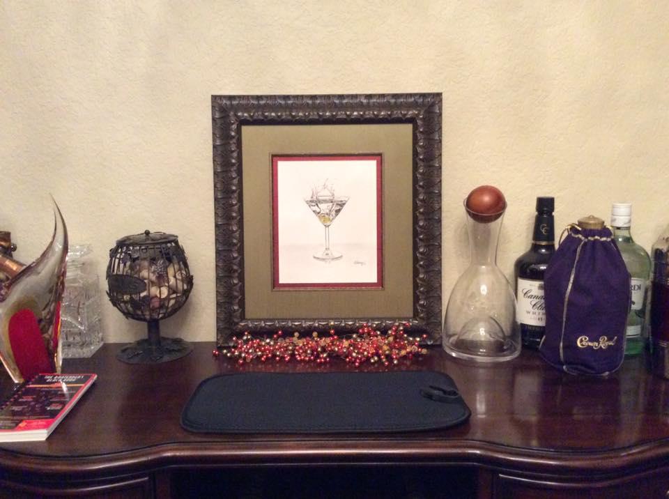 Martini Splash framed