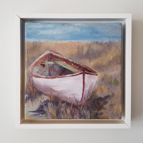 White Canoe (framed)