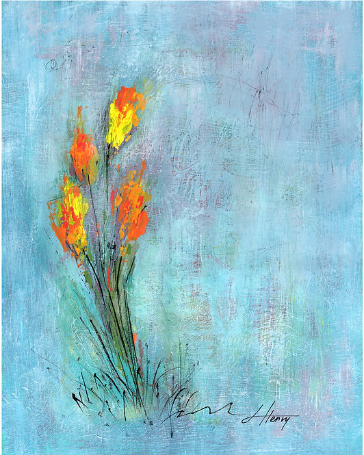 """Spring Arises 7"" vertical print"