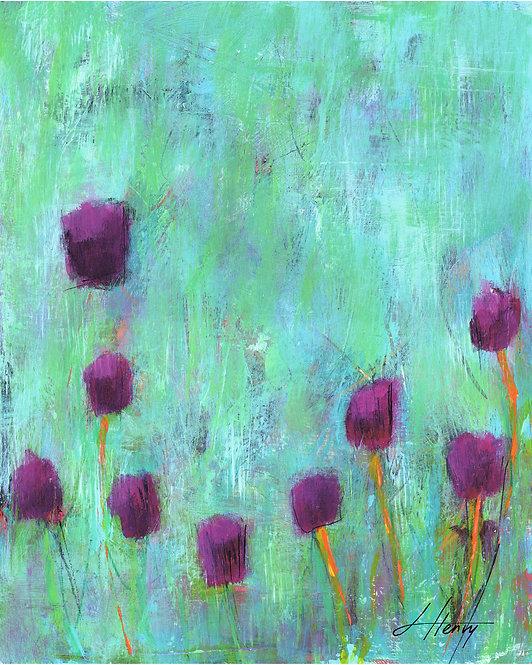 """Spring Arises 1"" vertical print"