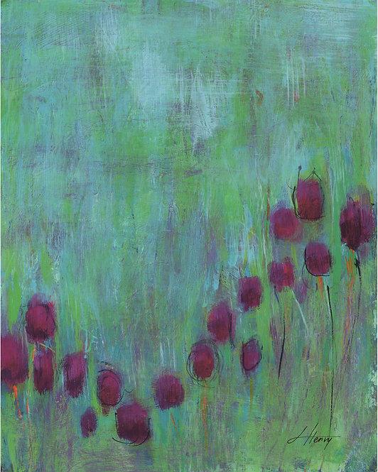 """Spring Arises 6"" vertical print"
