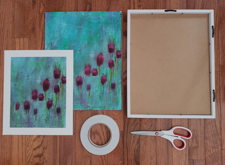 Canvas Print Framing Tutorial