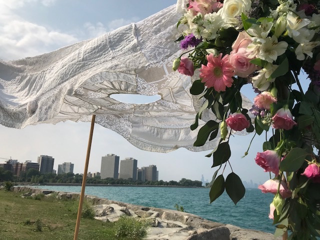 Chuppah at Promontory Point, Chicago
