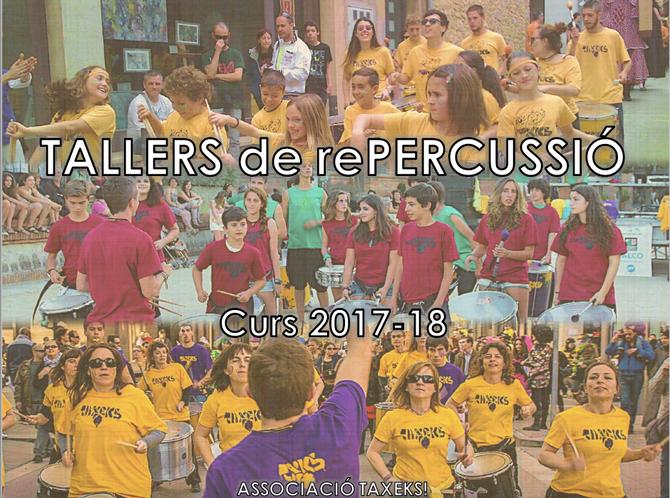 Reunió informativa TALLERS de rePERCUSSIÓ 17-18!