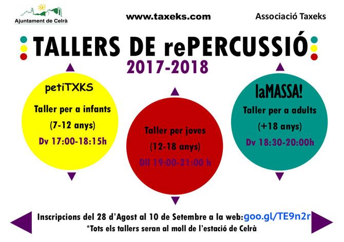 TALLERS de rePERCUSSIÓ 17-18!