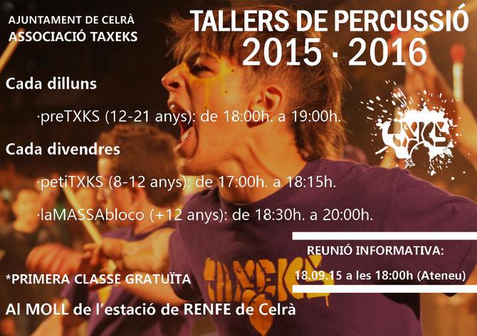 TALLERS PERCUSSIÓ 15-16