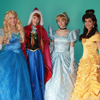 Cinderella, Belle, Anna and Belle Party