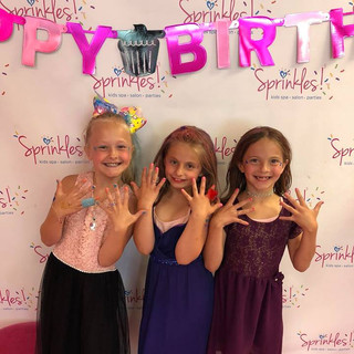 Girls Birthday Parties at Sprinkles Kids Spa