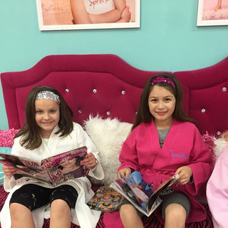 Girls Pampered at Sprinkles Kids Spa