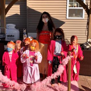 Princess Moana at Sprinkles Kids Spa Mobile Party